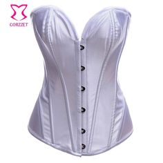 Women Waist Training Bustier Satin Purple Corsetto Sexy Corset Lingerie Overbust Plsu Size Steel Boned Corsets and Bustiers Sexy Gifts Valentine's Day Wife Honeymoon
