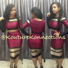 2 piece mesh skirt set / Kouture Konnections Boutique