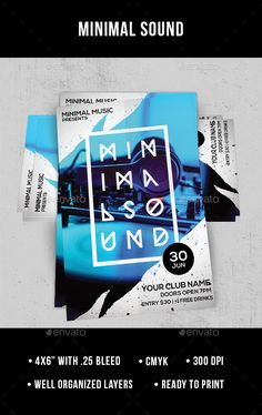 Minimal Sound Flyer Design Template PSD. Download here: http://graphicriver.net/item/minimal-sound/16382372?ref=ksioks