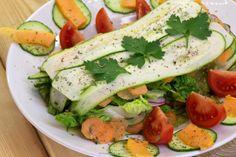 """Raw vegan recipe for """"Zucchini - papaya - """"Lasagna"""""""" (rawvegan, rawfood, 80-10-10)"""