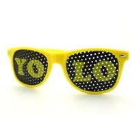 Yellow YOLO Wayfarer Sunglasses - Detailed item view - |Great Products at a Reasonable Price. $6.99