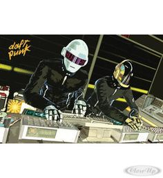 Daft Punk Poster  Available on http://closeup.de
