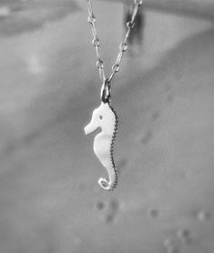 Sea Horse Necklace Silver Necklace Ocean Jewelry Boho Ocean Jewelry, Mermaid Jewelry, Beach Jewelry, Boho Jewelry, Fashion Jewelry, Silver Necklaces, Silver Jewelry, Gifts For Surfers, Horse Necklace