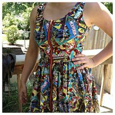 Women's Classic Marvel Comics Dress by NonstopFandomShop on Etsy, $104.99