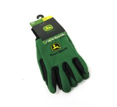 John Deere 10oz Green Jersey, Ribbed Knit Wrist Embroidered Logo YOUTH GLOVES