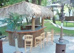 backyard backyard beach backyard decks backyard projects get hut tiki Backyard Beach, Tropical Backyard, Backyard Paradise, Backyard Decks, Pool Bar, Tiki Hut, Tiki Tiki, Garden Bar, Backyard Projects