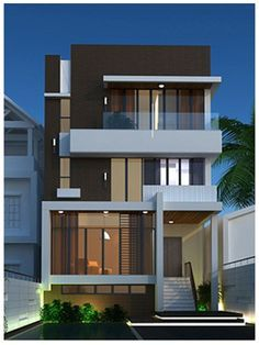 To inspire ypu on your best projects, we select architecture projects for you to see. Discover more architecture projects here. House Front Design, Modern House Design, Facade Design, Exterior Design, Contemporary Architecture, Architecture Design, Building Design, Building A House, Townhouse Designs