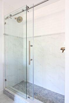 Prescott View Home Reno: Choosing finishes for a bathroom renovation - Classy Clutter Very Small Bathroom, Master Bathroom, White Bathroom, Simple Bathroom, Master Bedrooms, Small Showers, Delta Faucets, Bathroom Inspiration, Bathroom Ideas