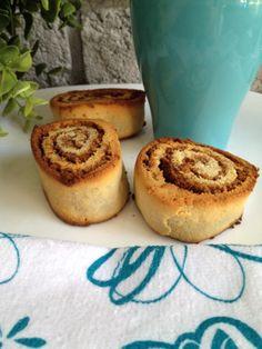 Cinnamon rolls, dairy free, wheat free and refined sugar free.