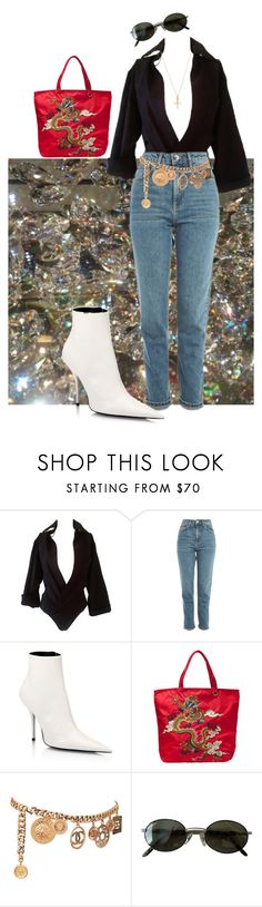 """""""Diamonds dancing"""" by estcequecestdrole ❤ liked on Polyvore featuring Dsquared2, Topshop, Balenciaga, Vivienne Tam, Chanel and Ray-Ban"""
