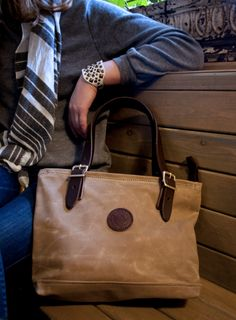 The Waxed Canvas Lakewalk Tote by Duluth Pack