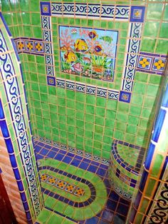 Bathroom Using Mexican Tiles Decorating With Talavera