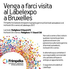Frimpeks Invitation to LabelExpo 2017 - English Invitations, Feelings, English, Brussels, English Language, England, Invitation