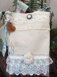 Free shiping Tote bag Bible Shabby chic bag by Mariescountryshop