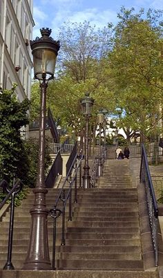 The stairs of Montmartre , Paris, France
