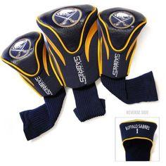 Team Golf NHL Buffalo Sabres 3 Pack Contour Head Covers, Blue