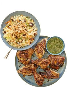 Thomasina Miers' Thai barbecued chicken with warm coconut and rice salad