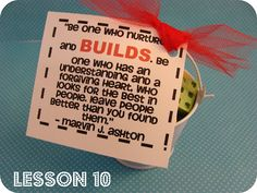 Love this inspirational quote...and especially love the Lego candy idea with it.  You could even just give actual Legos as a gift to give to those Lego lovers out there.