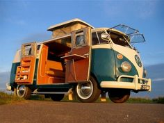 Vintage VW - this would be fun to camp in