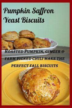 Yeast Biscuits, Pumpkin Biscuits #breadbakers