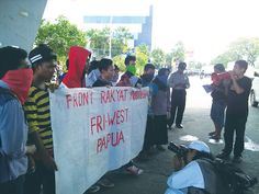 Mahasiswa Papua Tuntut Tambang Freeport Ditutup dan Referendum