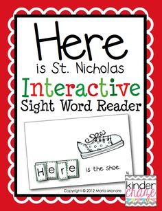 FREE Interactive Sight Word Reader: PreK-K
