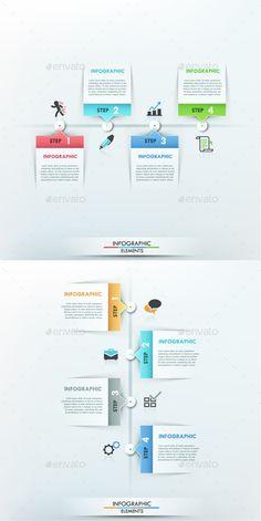 Modern Infographic Paper Timeline Template #design Download: http://graphicriver.net/item/modern-infographic-paper-timeline/10059720?ref=ksioks