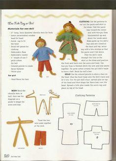 A Surprising Tool To Help You Create Felt Crafts Patterns. Waldorf Crafts, Waldorf Dolls, Tiny Dolls, Soft Dolls, Dollhouse Dolls, Miniature Dolls, Doll Clothes Patterns, Doll Patterns, Fabric Dolls