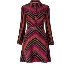 DVF CHRISSIE SHIRT DRESS ($448) ❤ liked on Polyvore featuring dresses, counterpointe rubiate, long shirt dress, stripe dresses, striped dress, striped shirt dress and diane von furstenberg
