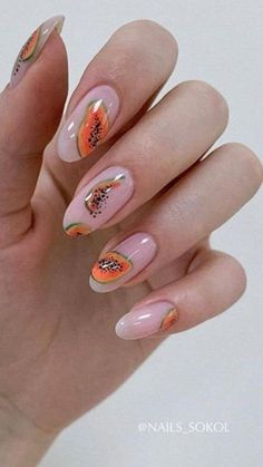 Amazing Jewels For Nail Art Ideas with Rhinestones, Gems, Pearls and Studs Cute Nail Art, Cute Nails, Pretty Nails, Diy Nails, Nail Design Stiletto, Nail Design Glitter, Fruit Nail Art, Modern Nails, Studded Nails