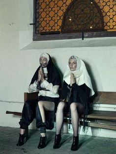 Couture Religious Editorials - The Catholic Guilt Design Scene Exclusive is Artful and Avant-Garde (GALLERY)