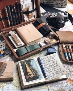 the Iconic Blue fountain pen and ink on loan from the kind folks Swipe for close up details. Harper Journal by The beautiful Writing Box & 10 Pen Zipper Case by
