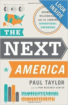 The Hardcover of the The Next America: Boomers, Millennials, and the Looming Generational Showdown by Paul Taylor, Pew Research Center New Books, Books To Read, Pew Research Center, Generation Gap, The Daily Show, Social Science, Science Fiction, The Next, So Little Time