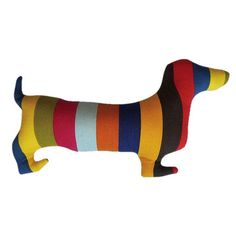 {Doxie Stripes Pillow} stripes in doxie form? perfect!