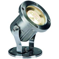 For clean and sophisticated accent lighting in your yard, the Nautilus LED outdoor floodlight is classic and eco-friendly contemporary design.