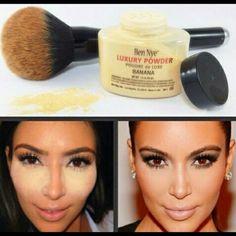 banana  ben  nye  1.5  oz Kim Kardashian  favorite  contour  loose powder  to gives u ou flawless  smooth  skin even tone neutral  shade for  all skin type. Ben nye Makeup Foundation