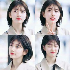 "Suzy - ""While You Were Sleeping"" Medium Hair Cuts, Short Hair Cuts, Medium Hair Styles, Curly Hair Styles, Haircut Medium, Bae Suzy, Suzy Kpop, Black Long Bob, Korean Short Hair"