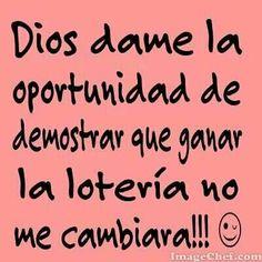 Dios dame la oportunidad...