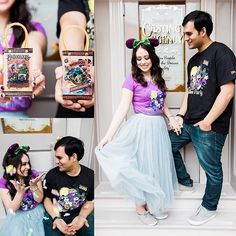 A Halloween at Disneyland inspired engagement shoot? Yes, please!