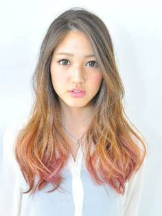 Emo and Harajuku is a Most Model of Japanese Hairstyle : Simple Hairstyle Ideas … – Jen Teo - Perm Hair Styles Ombre Hair, Wavy Hair, New Hair, Permed Hairstyles, Easy Hairstyles, Hairstyle Ideas, Japanese Hairstyles, Korean Hairstyles, Air Dry Hair