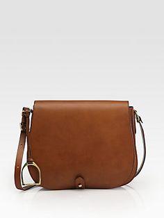 Ralph Lauren Collection RL Medium Saddle Shoulder Bag