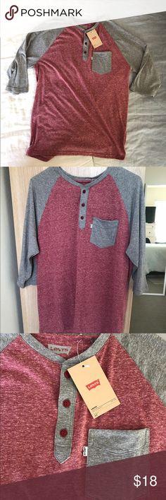NWT Levi's raglan baseball tee Brand new Levi's tee Levi's Shirts Tees - Long Sleeve
