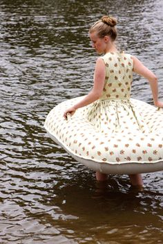 inflatable boat dress.... now I can look stylish without drowning