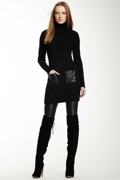 Acrobat Ribbed Turtleneck Dress by Non Specific on @HauteLook