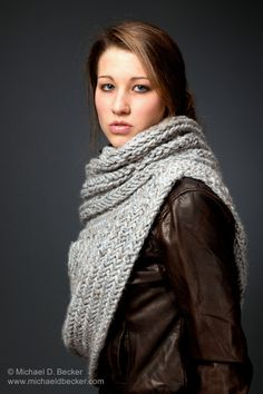 Katniss Inspired Huntress Cowl Knitting Pattern by Kysaa by KYSAA