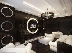 Black & White home decor: tres chic