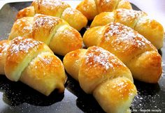 Czech Recipes, Russian Recipes, Mini Desserts, Hot Dog Buns, Bread Recipes, Nutella, Cheesecake, Deserts, Food And Drink