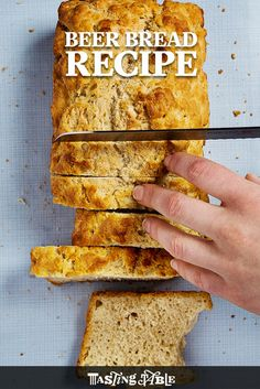 Heat it Up {Recipe: Beer Bread} - Dine and Dish - Easy Cheddar Beer Bread Recipe - A Helicopter Mom - Pumpkin Bread Is Great. Beer Bread Is Great. What About Pumpkin-Beer Bread? Bread Maker Recipes, Easy Bread Recipes, Beer Recipes, Cooking Recipes, Cooking With Beer, Cooking Light, Homemade Beer, How To Make Bread, Root Beer