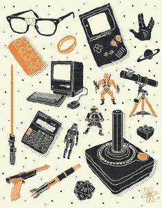 Nerd Life  Created by Josh Lane  Prints available atSociety6.