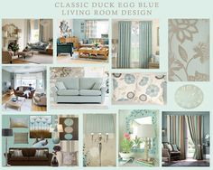 Clic Duck Egg Blue Living Room Design Lounge Rooms